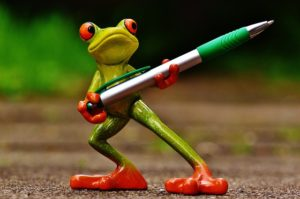pen with frog